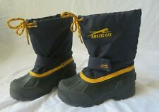 Arctic Cat Boys Size 12 Navy Blue Yellow Snowshower Winter Snowmobile Boots