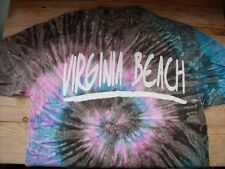 TA2155 Hanes Promo-Shirt VIRGINIA BEACH Shirt Kurzarm L Braun Pink Türkis  Sehr