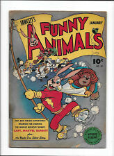 FAWCETT'S FUNNY ANIMALS #34 [1946 GD-VG] ROLLER SKATES COVER!