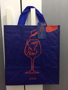 Tesco Carry Me Bottle Bag 6 bottles wine spirit carrier bag Blue - BNWT