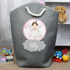 PERSONALISED Fairy / Laundry Storage Bag For Children : Girls Room Birthday Gift