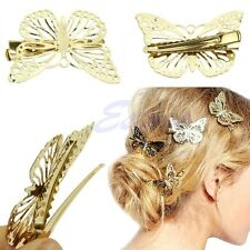 x4 Shiny Golden Butterfly Hair clips Headband Hair Pins Hair accessory Wedding