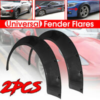 Universal Front/Rear Fender Flares Over Wide Body Wheel Arches ABS 80mm 2pcs