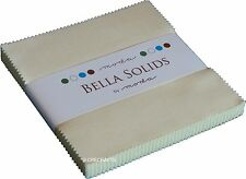 "Moda Bella Solids Snow Charm Pack 42 100% Cotton 5"" Precut Fabric Quilt Squares"