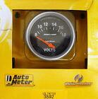 Auto Meter 3592 Sport Comp Voltmeter Volt Meter Gauge 2 58 8 - 18 Volts