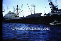 35mm Slide Marivia Ship Port Marina Boat Dock Ocean Vessel  Harbor 1955-59