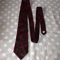 Vintage Retro M&S St Michael Paisley Men's Floral Patterned Pure 100% Silk Tie