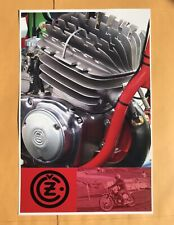 Vintage Motocross CZ poster