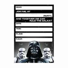 Star Wars Party Supplies Invites Invitations Pack Of 8 Genuine Licensed