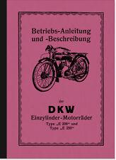 DKW E 206 250 Blutblase Bedienungsanleitung Betriebsanleitung Handbuch E206 E250
