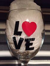 x10 LOVE Valentine's Day Vinyl  Decal Sticker DIY Glitter Wine Glass