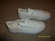 Ladies White Tennis Shoes Size 5 from New Look