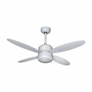 Ventilatore da soffitto con luce 4 pale Diran 105 cm con telecomando