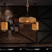 Vintage industrial style decorative ceiling chandelier Hemp Rope Pendant Light