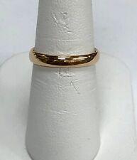 14K Rose Gold Wedding Band Size 6
