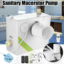 400W Sanitary Macerator Disposal Pump Unit Toilet Sink Shower Fully Automatic