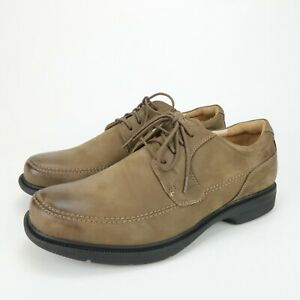 Abeo Logan Men's Comfort Orthotic Dress Shoes Taupe Leather Size 11 M Neutral