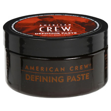 NEW AMERICAN CREW FOR MEN HAIR STYLING DEFINING PASTE 3 OZ MEDIUM HOLD LOW SHINE