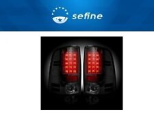 Recon for 2013-2016 Smoked LED Tail Lights For Dodge RAM - 264236BK