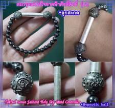 Magic Bracelet Takrud & Ball Charming LP O Thai Amulet Attraction Love Charm