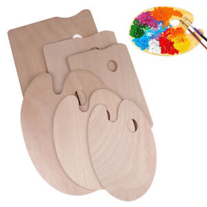 Wood Painting Palette Smooth Tray Palette Art Supplies Oil Palette For  Children
