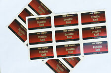 NEW! GENUINE FACTORY DYNALITE GOLD X100 SHAFT LABELS NINE
