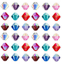 1000pcs Loose Glass Crystal Bicone Shaped Spacer Beads For Jewelry Making 4/6mm