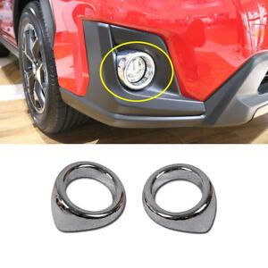 fits Subaru XV/Crosstrek 2018 2019 2020 Chrome Front Fog Light Lamp Cover Trim