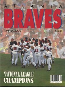 1992 Atlanta Braves Yearbook  - National League Champions cover