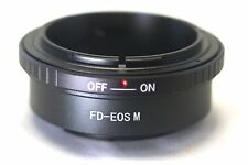 Canon FD Mount Lens to Canon EOS M EF-M Mirrorless Camera Adapter Ring M M2 M10