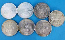 7x 100 Schilling 1976-1979 Silber Münze Österreich Konvolut LOT Posten 167,4 gr.