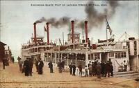 St. Paul MN Steamer Excursion Boats Jackson St. 1912 Used Postcard