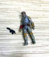 """Vintage Star Wars Boba Fett Action Figure 3.75"""" Complete w/ Blaster Loose Joints"""