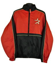 Houston Astros Jacket Coat XL Red Black Zip Up MLB Baseball Windbreaker