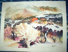 Blanche Watercolor Litho Art