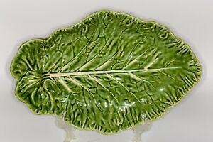 Large Cabbage Leaf Serving Bowl/Platter - Majolica - Bordallo Pinheiro 16 inch
