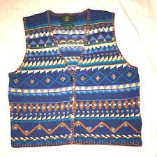 ORVIS Men's Multicolored Vest Cotton Blend Size Large