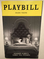 THREE TALL WOMEN PLAYBILL BROADWAY MAY 2018 Laurie Metcalf Alison Pill