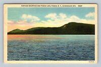 Panther Mountain & Piseco Lake Vintage Piseco New York Postcard