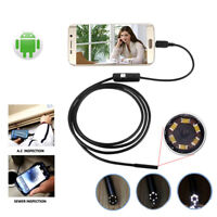 TYPE-C Snake Endoscope Inspection Camera 6//8 LED IP67 ANDROID PCN AE 3in1 USB