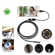 7mm 1-10m Micro USB + USB Inspection HD Camera Andriod PC Endoscope Boresc JNtb