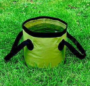 Collapsible Carp Fishing Bait Bucket, Groundbait Mixing Bowl, High Quality Green