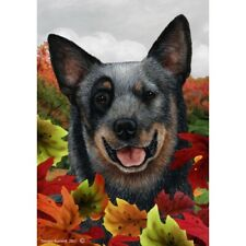 Fall House Flag - Blue Australian Cattle Dog 13072