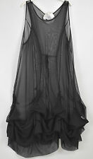 STUNNING DESIGNER 'SHE' SHEER HITCHED PARACHUTE OVERDRESS  20/22/24/26 +