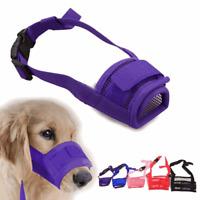 Pets Dog Muzzle Mesh Nylon Adjustable Bite Anti No Mask Puppy Mouth Barking Bark
