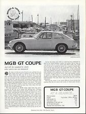 Road & Track Article Reprint from April 1951 -- MGB GT Coupe --
