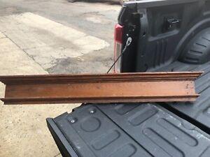 """c1890 vintage oak window door header pediment original varnish 48"""" x 7"""" x 2.5"""""""
