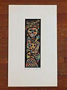 "1995 Segun Adeku (Nigeria b. 1949) Linocut Print On Rice Paper ""A Beauty"""