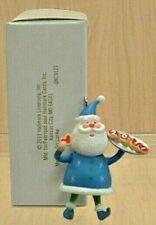 Hallmark Local Club Gift 2011 Miniature Ornament Repaint FESTIVE SANTA