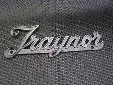 Vintage 60's Traynor Script Tube Amplifier Logo Badge Metal Name Plate YBA-1